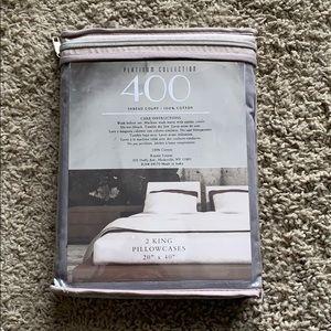 2 King Size Cotton Pillow Cases